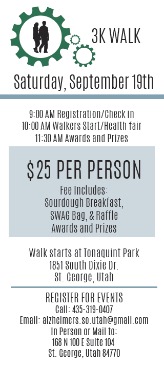 Alzheimer's and Dementia Society 3k Walk Fundraiser