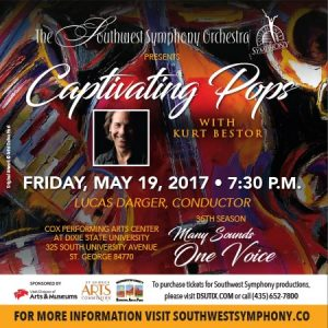 The Southwest Symphony Orchestra - Captivating Pops @ Cox Performing Arts Center | Saint George | Utah | United States
