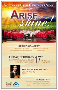 Southern Utah Heritage Choir - Arise, Shine @ Cox Auditorium  | St. George | Utah | United States