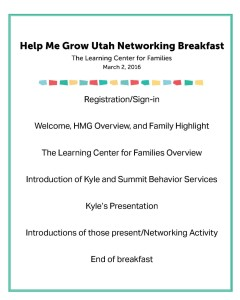 Help Me Grow - Networking Breakfast @ The Learning Center For Families | Saint George | Utah | United States