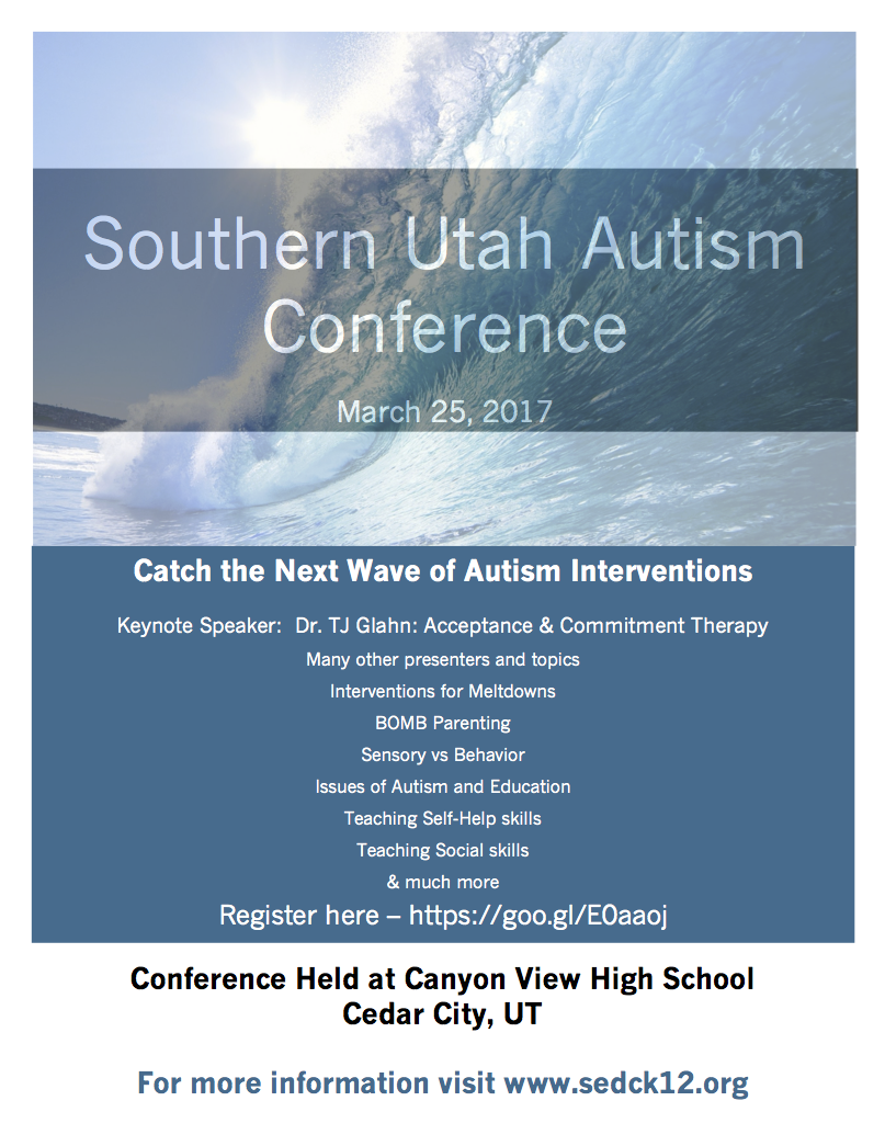 2017 Southern Utah Autism Conference