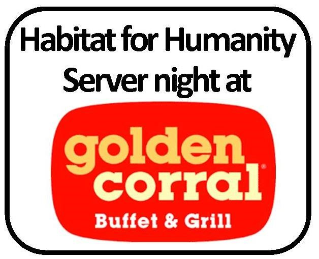 Habitat for Humanity's Server Night at Golden Corral