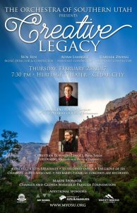 Orchestra of Southern Utah - Creative Legacy @ Heritage Theater | Cedar City | Utah | United States