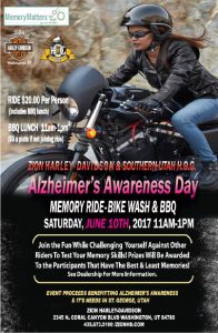 Alzheimers Awareness Day @ Zion Harley Davidson | Washington | Utah | United States