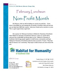 Utah Business Women - February Luncheon @ Best Western Plus Abbey Inn | St. George | Utah | United States