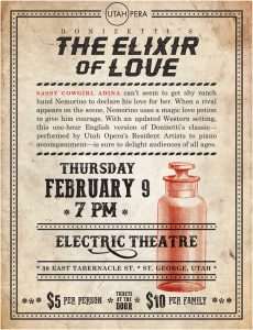 Utah Opera presents the Elixir of Love @ The Electric Theater | St. George | Utah | United States