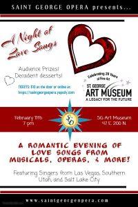 Saint George Opera - A Night of Love Songs @ St. George Art Museum | St. George | Utah | United States