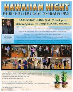 Hawaiian Night themed West-Coast-Swing Community Dance @ Electric Theater | St. George | Utah | United States