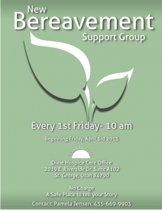 Bereavement Support Group @ Dixie Hospice Care Office | St. George | Utah | United States