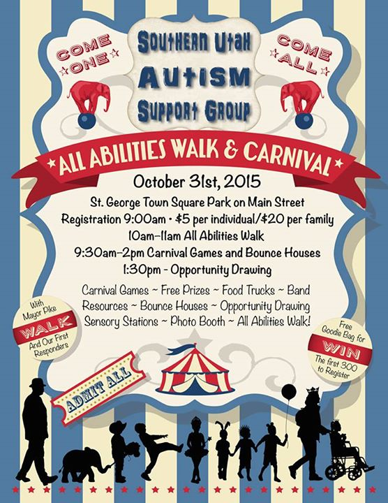 Southern Utah Autism Support Group – All Abilities Walk & Carnival