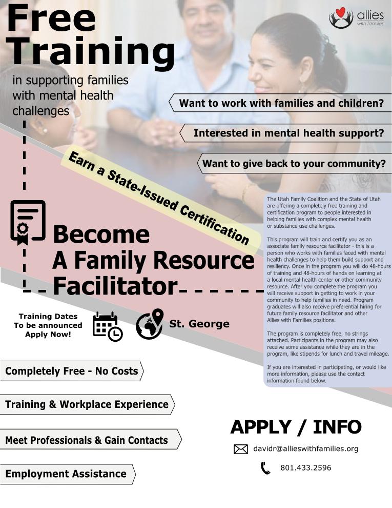 Associate Family Resource Facilitator – Training and Certification Program